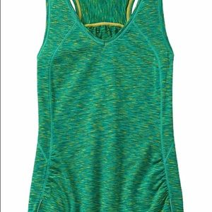 Athleta Active Pop Space Dye Tank Top Back Pocket